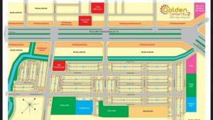 sơ đồ phân lô dự án golden center city